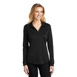 Ladies Port Authority® Silk Touch™ Long Sleeve Performance Polo Shirt
