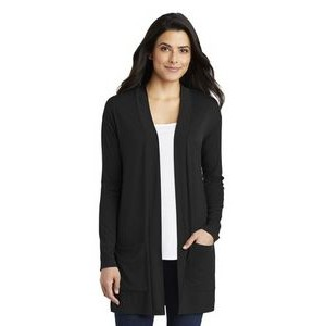 Ladies Port Authority® Concept Long Pocket Cardigan