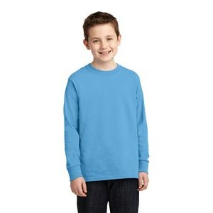 Port & Company® Youth Long Sleeve Core Cotton T-Shirt