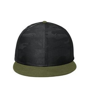 New Era® Camo Flat Bill Snapback Cap