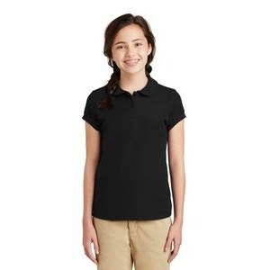 Port Authority® Silk Touch™ Girl's Peter Pan Collar Polo Shirt