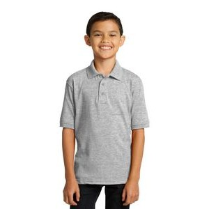 Port & Company® Youth Boy's Core Blend Jersey Knit Polo Shirt