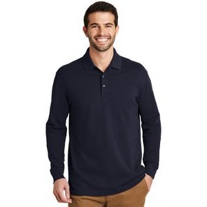 Port Authority® EZCotton™ Polo Long Sleeve Shirt