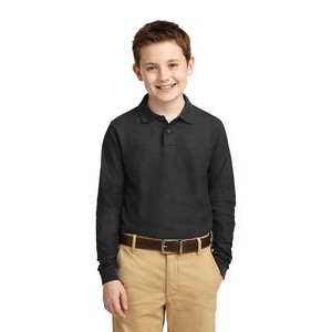 Port Authority® Youth Silk Touch™ Long Sleeve Polo Shirt