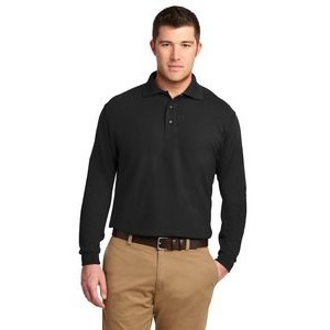Port Authority® Silk Touch™ Long Sleeve Tall Polo Shirt