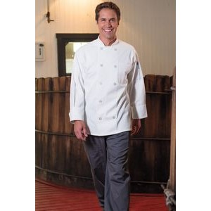 White Traditional Chef Coat w/10 Buttons (XS-XL)