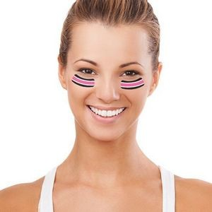 Breast Cancer Awareness Eye Black Tattoos