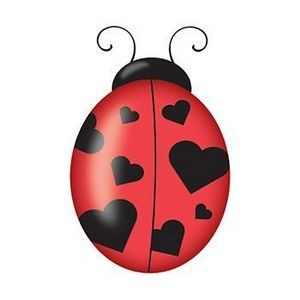 Heart Ladybug Temporary Tattoo