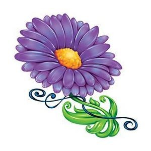 Purple Flower Temporary Tattoo