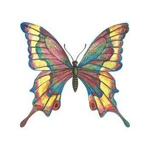 Detailed Stained Glass Butterfly Temporary Tattoo