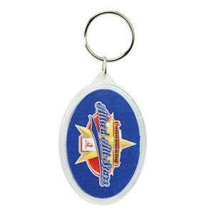 Oval Crystal Key Tag