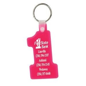 Soft Squeezable Key Tag (Number 1)