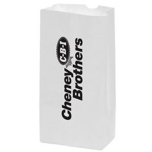 White Kraft Paper Popcorn Bag (Size 4 Lb.) - Flexo Ink