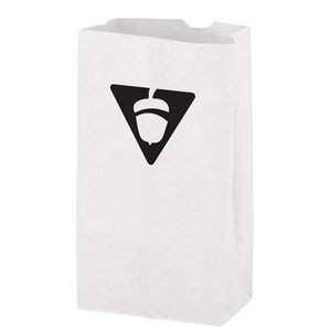 White Kraft Paper SOS Grocery Bag (Size 6 Lb.) - Flexo Ink