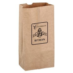 Natural Kraft Paper SOS Grocery Bag (Size 8 Lb.) - Flexo Ink