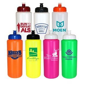 32 oz. Sports Bottle with Push 'n Pull Cap