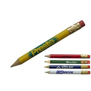 Round Golf Pencil w/ Eraser