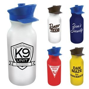 20 Oz. Value Cycle Bottle w/ Police Hat Push 'n Pull Cap