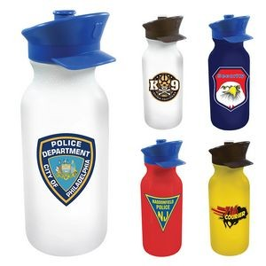 20 Oz. Value Cycle Bottle w/ Police Hat Push 'n Pull Cap (Full Color Digital)