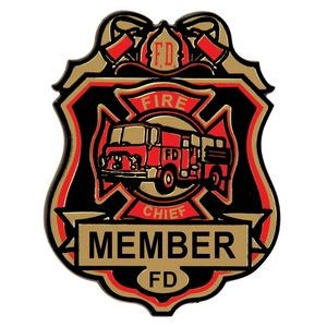 Stock Plastic Fire Chief Badge