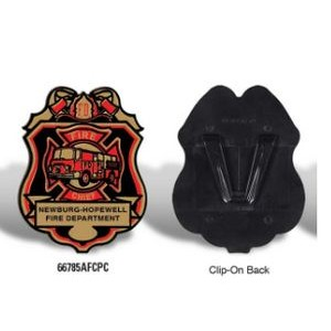 Plastic Junior Firefighter Badge w/Our Stock Design & your Wording