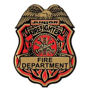 Stock Plastic Junior Firefighter Badge