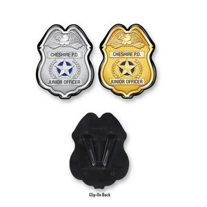 Plastic Police Badge w/ Complete Custom Decal