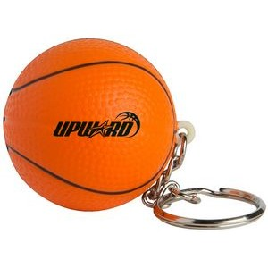 Basketball Squeezies® Stress Reliever Keychain