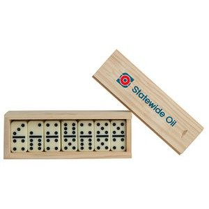 Small Dominos in Wooden Box