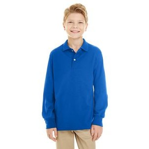 Jerzees Youth 5.6 oz. SpotShield? Long-Sleeve Jersey Polo