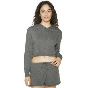 American Apparel Ladies' Tri-Blend Cropped Hoodie Sweatshirt