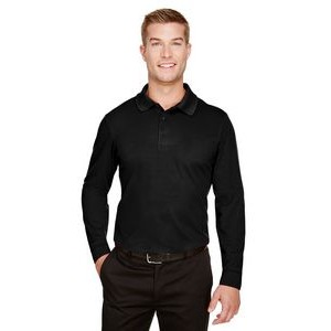 Devon and Jones CrownLux Performance? Men's Tall Plaited Long Sleeve Polo