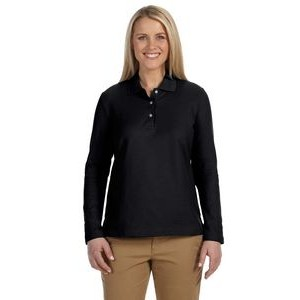 Devon and Jones Ladies' Pima Piqué Long-Sleeve Polo