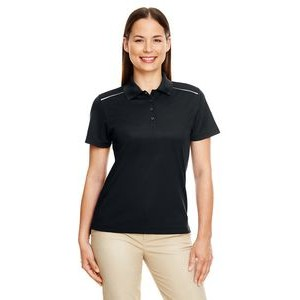 CORE 365 Ladies' Radiant Performance Piqué Polo with Reflective Piping