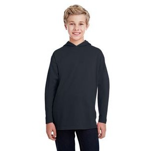 Anvil / Cotton Deluxe Youth Long-Sleeve Hooded T-Shirt