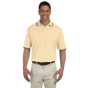 Devon and Jones Men's Tipped Perfect Pima Interlock Polo