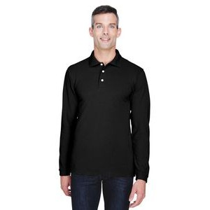 Harriton Men's 5.6 oz. Easy Blend? Long-Sleeve Polo