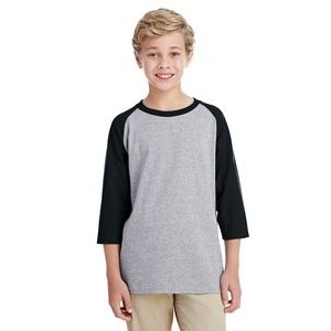 Gildan Youth Heavy Cotton? 5.3 oz. 3/4-Raglan Sleeve T-Shirt