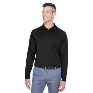 Harriton Men's Advantage Snag Protection Plus Long-Sleeve Tactical Polo