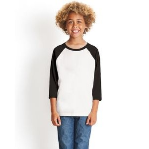 NEXT LEVEL APPAREL Youth CVC 3/4-Sleeve Raglan