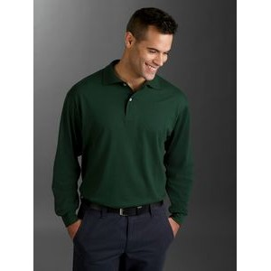 Jerzees Adult 5.6 oz. SpotShield? Long-Sleeve Jersey Polo