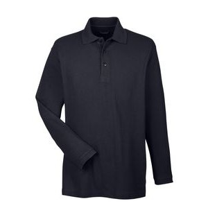 ULTRACLUB Adult Long-Sleeve Whisper Piqué Polo