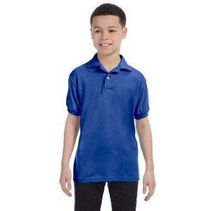 Hanes Printables Youth 5.2 oz., 50/50 EcoSmart® Jersey Knit Polo