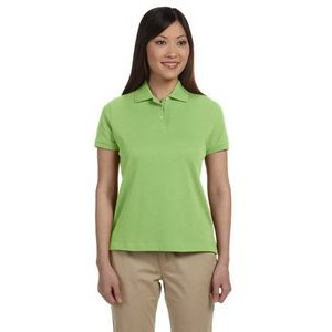 Devon and Jones Ladies' Solid Perfect Pima Interlock Polo