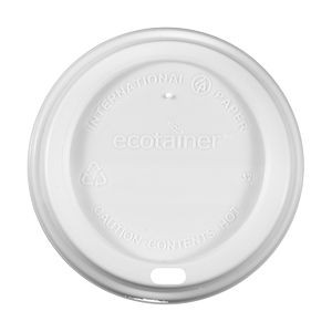 12/16 oz Eco-Friendly Domed Lid - White