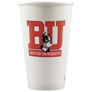 16 oz Eco-Friendly Paper Cup - White - Digital