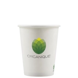8 oz Eco-Friendly Paper Cup - White - Digital