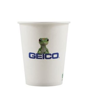 12 oz Eco-Friendly Paper Cup - White - Digital