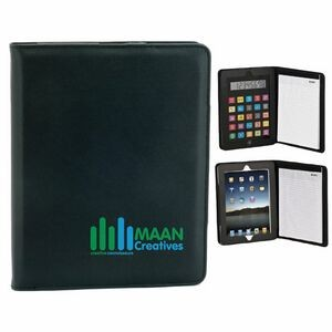 Simulated Leather Case for iPad® w/Removable Calculator