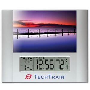 "Time Frame™ with Digital Clock & 4""x6"" Photo Frame"